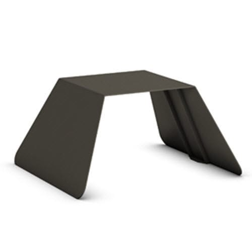 contemporary stool / galvanized steel / for public spaces / outdoor