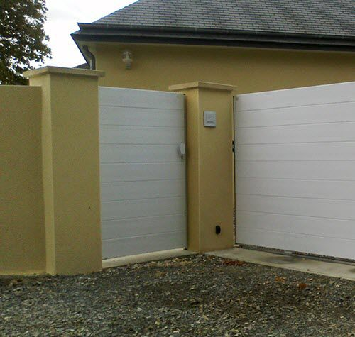 PVC garden gate / thermo-lacquered aluminum