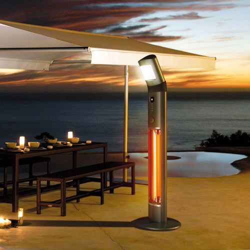 floor-mounted infrared patio heater / electric