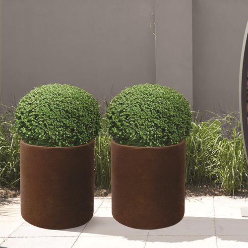 COR-TEN® steel planter / round / contemporary / for public spaces