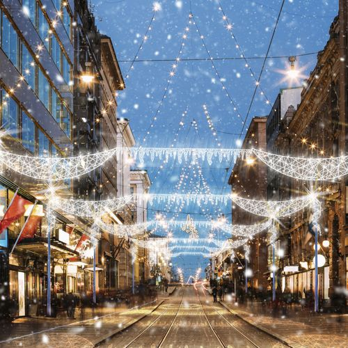 road Christmas lights - Terra Group