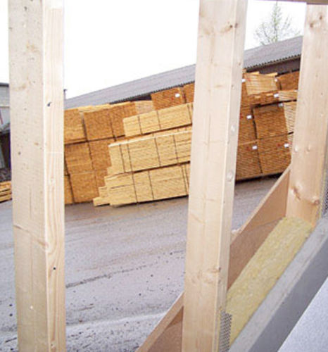 concrete wall / prefab / with modular panels / with intergrated insulation