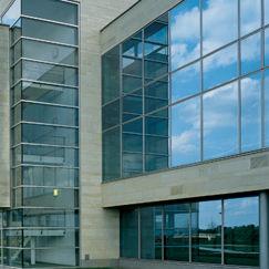 solar control glass panel / for facade / transparent
