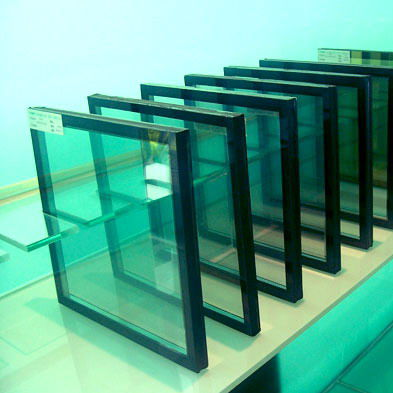 double-glazed glass panel / insulating / low-e / sun protection