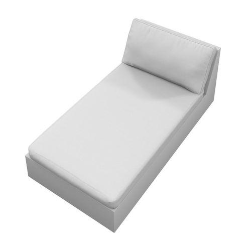 contemporary sun lounger / Batyline® / aluminum / garden