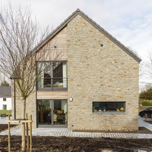 prefab house / contemporary / cross-laminated timber / energy-efficient