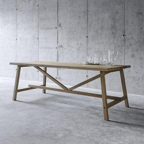 contemporary table / oak / rectangular