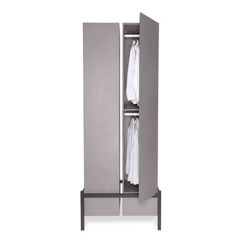modular wardrobe / contemporary / MDF / lacquered metal
