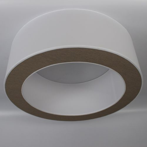 contemporary ceiling light / round / fabric / LED