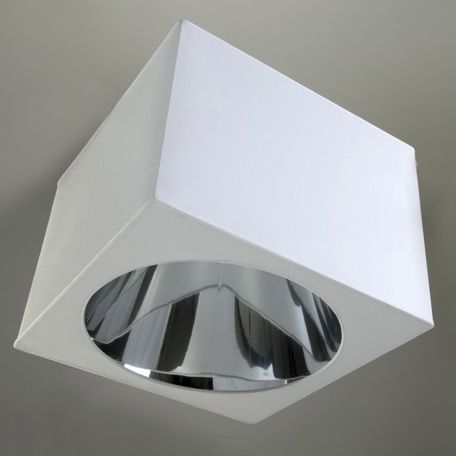 contemporary ceiling light / square / silk / LED