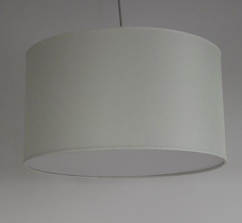 pendant lamp / contemporary / fabric / white