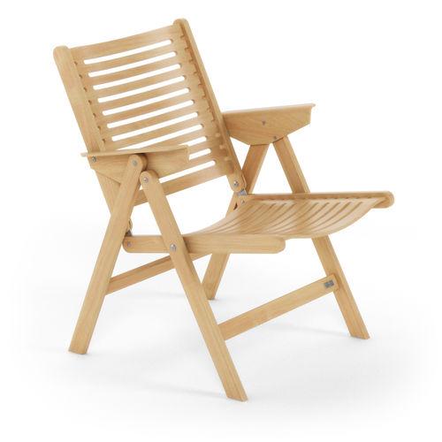 Scandinavian design armchair / teak / walnut / folding