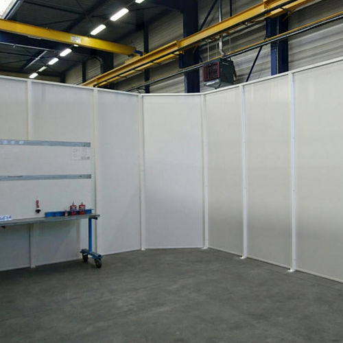 removable partition / modular / wooden / steel
