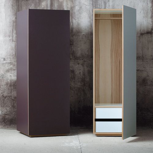 contemporary wardrobe / oak / walnut / ash