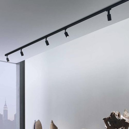 LED track light / round / aluminum / polycarbonate