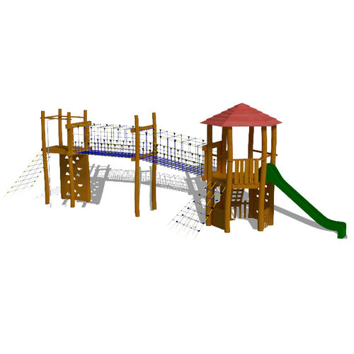 playground play structure / wooden / stainless steel / modular