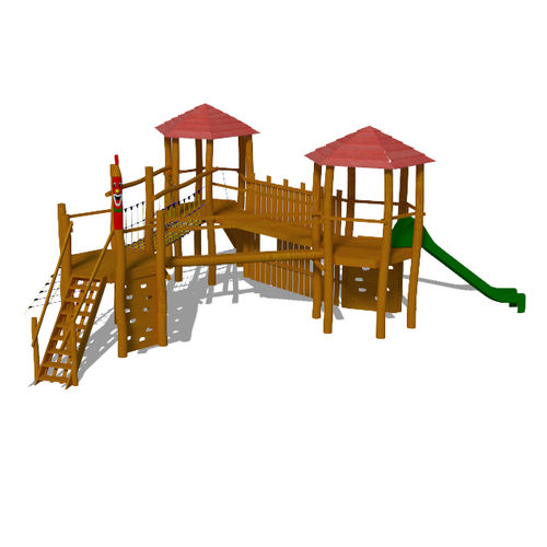 playground play structure / stainless steel / HPL / modular