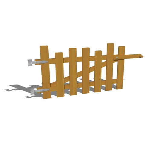 playground fence / louvered / wooden