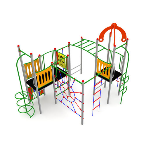 playground play structure / HDPE / galvanized steel / HPL