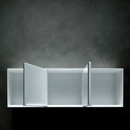 contemporary bathroom cabinet / Corian® / wall-mounted / with mirror