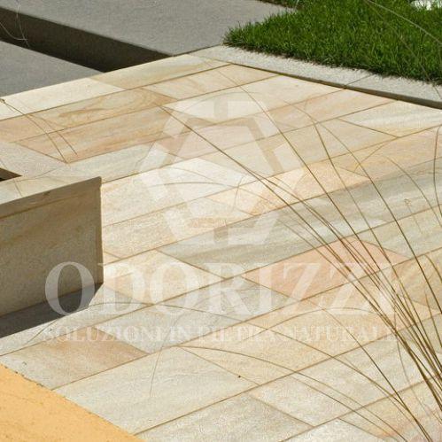 slate paving slab / pedestrian / for public spaces
