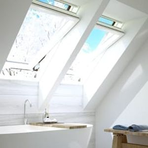 pivoting with central axis roof window