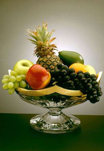 platinum fruit basket / crystal / gold / for domestic use