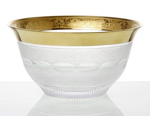 crystal bowl / gold