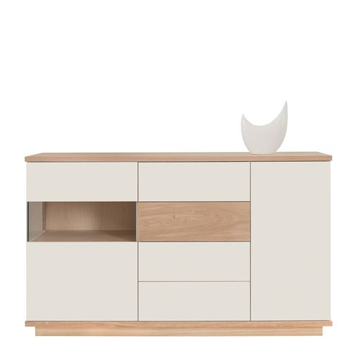 contemporary chest of drawers / wooden / glass