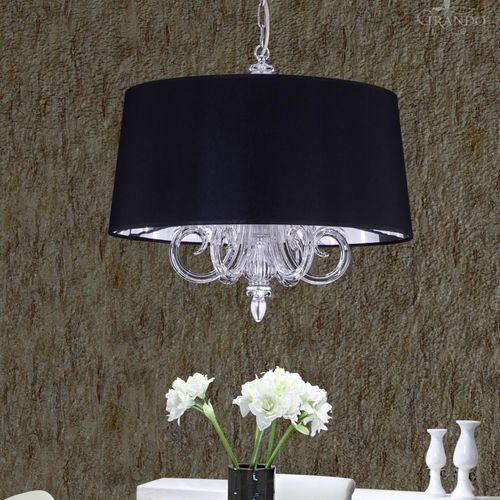 pendant lamp / contemporary / chrome / Swarovski® crystal