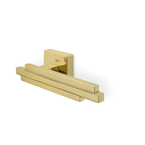 door handle / brass / contemporary / gold finish