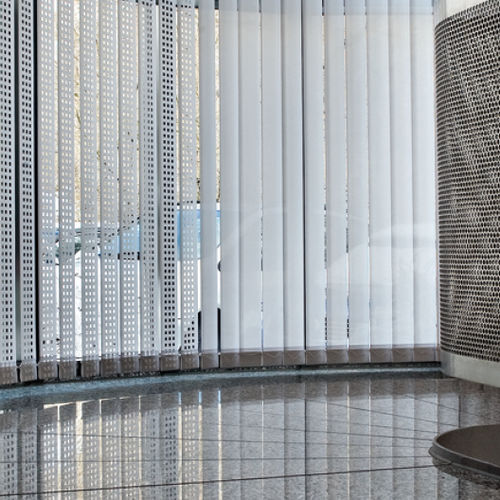 vertical blinds / aluminum / PVC / motorized