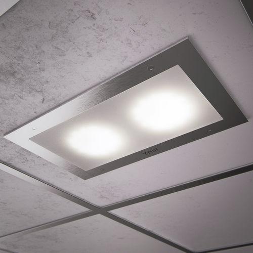 recessed light fixture / LED / rectangular / aluminum