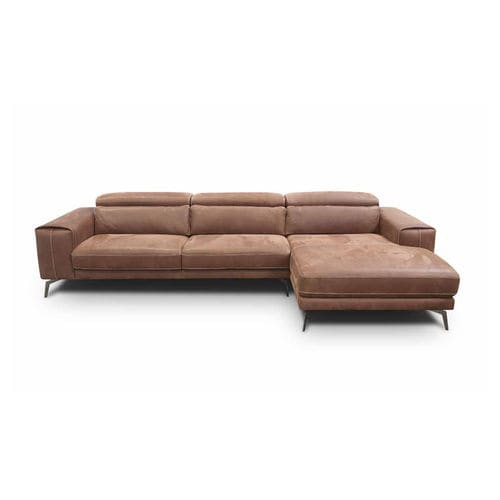 corner sofa / contemporary / fabric / leather
