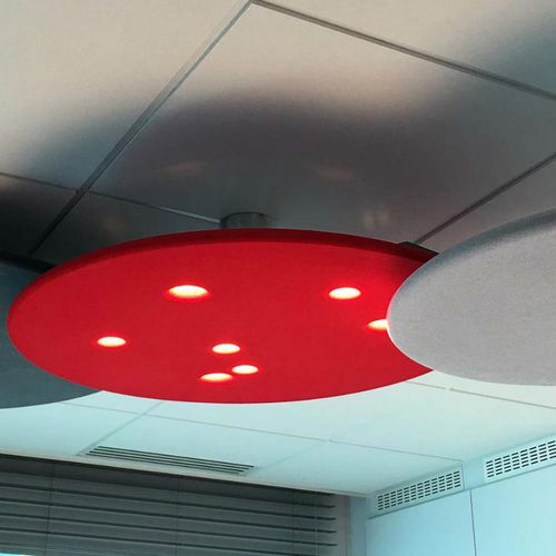 ceiling acoustic panel / foam / illuminated / commercial