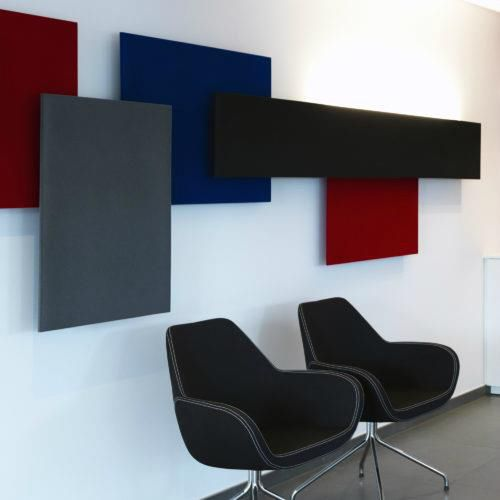 wall-mounted acoustic panel / foam / illuminated / decorative