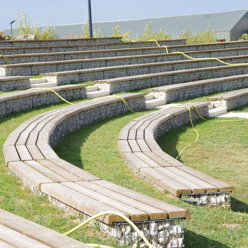 prefab stadium seating / wooden / galvanized steel