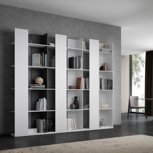 contemporary bookcase / commercial / lacquered MDF
