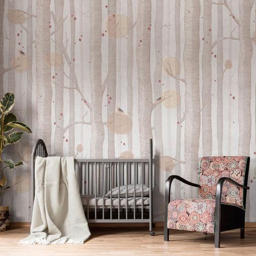 contemporary wallpaper / cellulose fiber / nonwoven fabric / fiberglass