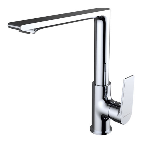 chrome-plated brass mixer tap / kitchen / 1-hole / for hotels