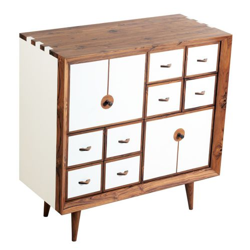 high sideboard / traditional / solid wood / teak