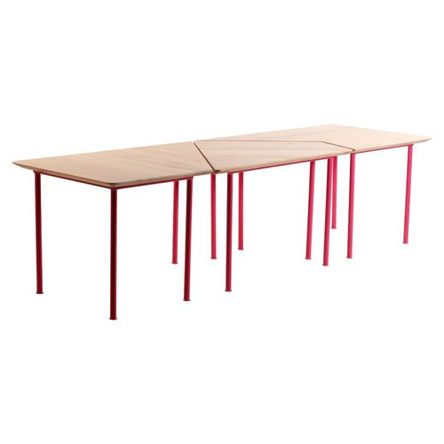 contemporary table / metal / metal base / commercial