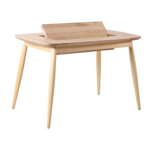 oak desk / solid wood / teak / contemporary