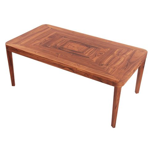 contemporary coffee table / teak / rectangular / commercial