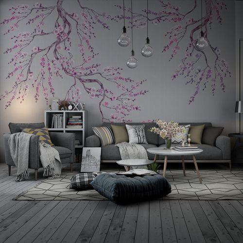 contemporary wallpaper / nonwoven fabric / silk / polyester