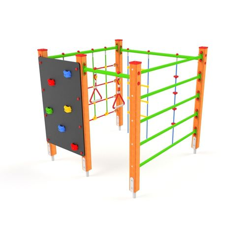 fitness trail climbing structure