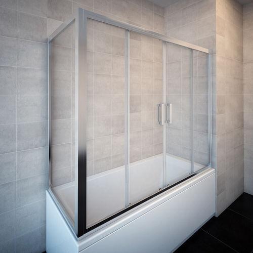 Sliding Bath Screen Pandora 2d W Aquaestil Plus Fixed Tempered Glass