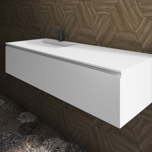 wall-hung washbasin cabinet / Corian® / MDF / contemporary