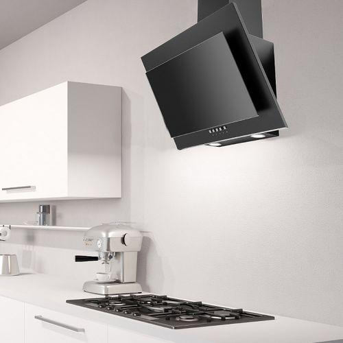 Wall Mounted Range Hood La 60 Galaxy Luxair Cooker Hoods Kitchen Extractors With Built In Lighting