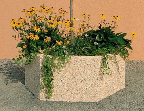concrete planter / rectangular / square / round